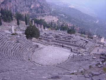 ancient greece the theatre of delphi
