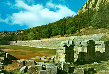 ancient greece delphi stadium
